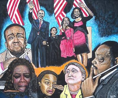 Presidential Election Night 2008 Poster by Koffi Mbairamadji