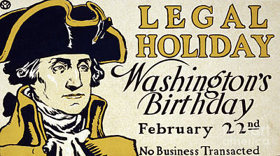 Presidents Day Vintage Poster Poster