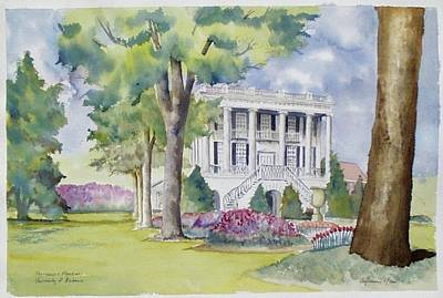 President's Mansion During Azalea Season Poster by Jim Stovall