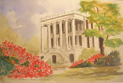 President's Mansion, University Of Alabama Poster by Jim Stovall