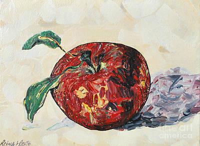 Pretty Apple Poster by Reina Resto