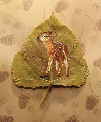 Pretty Baby Deer Poster by Ralph Root