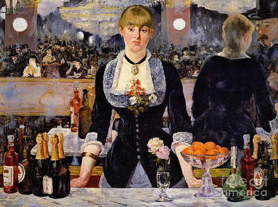 Pretty Bartender 1881 Poster by Padre Art