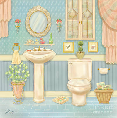 Pretty Bathrooms Iv Poster by Shari Warren