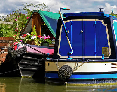 Pretty Canal Boats Poster
