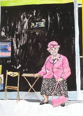 Poster featuring the painting Pretty In Pink by Esther Newman-Cohen