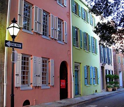 Pretty Lane In Charleston Poster