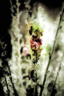 Pretty Perennial Poster by Bonnie Bruno