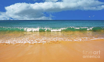 Pretty Waves In Paradise By Kaye Menner Poster by Kaye Menner