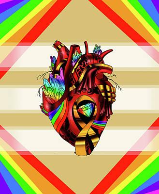 Pride Awareness Heart Poster