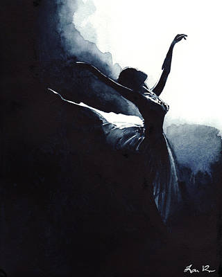 Prima Ballerina Tutu Swan Lake Pointe White Swan Black Swan Poster by Laura Row