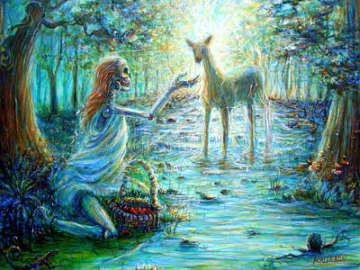 Poster featuring the painting Primavera Forest Of New Life by Heather Calderon