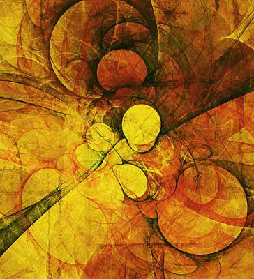 Primitive Earth Abstract Poster by Georgiana Romanovna