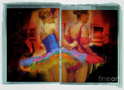 Poster featuring the photograph Primping Ballerinas by Craig J Satterlee