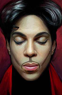 Poster featuring the painting Prince Artwork 2 by Sheraz A