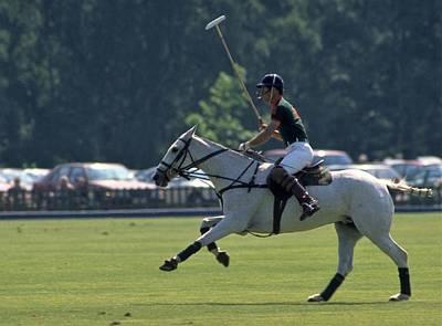Prince Charles Playing Polo At Windsor Poster