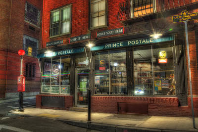 Prince Postale - Prince Street - North End - Boston Poster