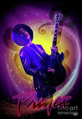 Prince - Purple  Poster by LDS Dya