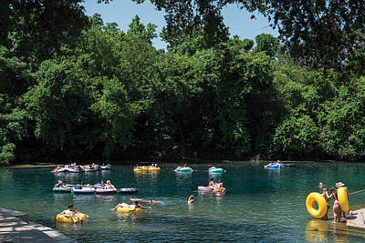 Prince Solms Park On The Comal River In New Braunfels Poster