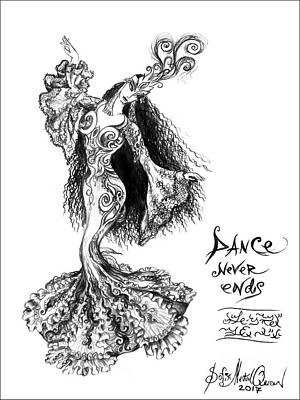Princess Ameynra. Birthday. Dance Poster by Sofia Metal Queen