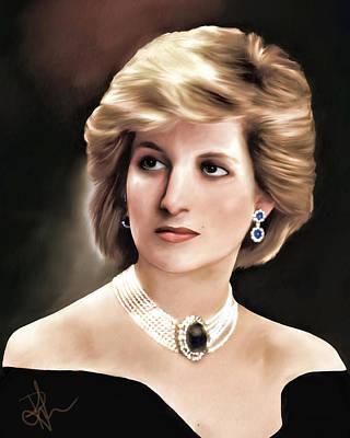 Poster featuring the digital art Princess Diana by Pennie  McCracken