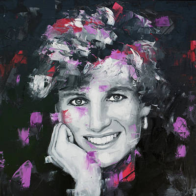 Poster featuring the painting Princess Diana by Richard Day