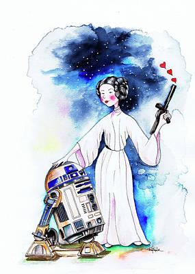 Princess Leia Illustration Poster by Isabel Salvador