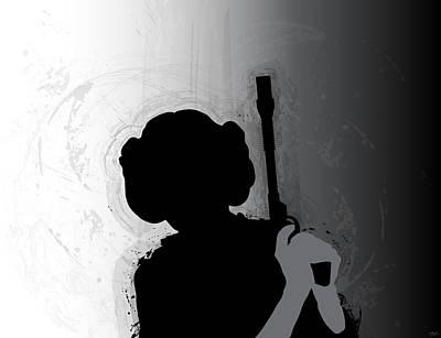 Princess Leia Poster by Nathan Shegrud