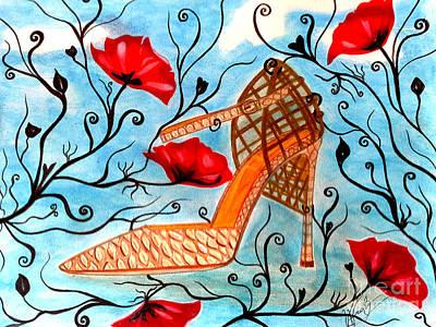 Princess Shoe Poster by Veronica V Jackson