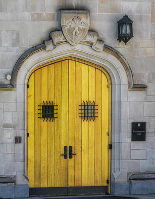 Princeton University Community Hall Door Poster by Susan Candelario