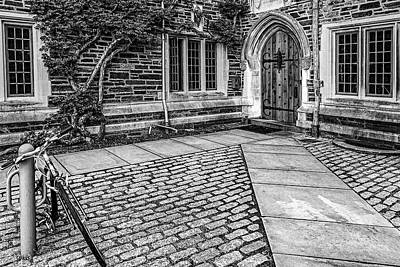 Poster featuring the photograph Princeton University Foulke Hall Bw by Susan Candelario