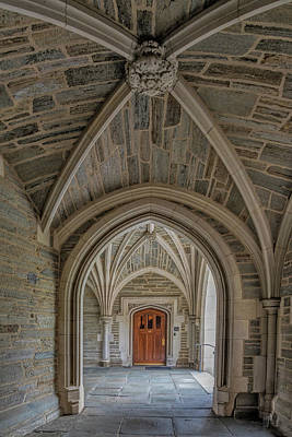 Poster featuring the photograph Princeton University Holder Hall Arches by Susan Candelario