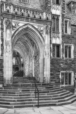 Poster featuring the photograph Princeton University Lockhart Hall Dorms Bw by Susan Candelario