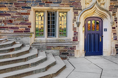 Poster featuring the photograph Princeton University Lockhart Hall by Susan Candelario