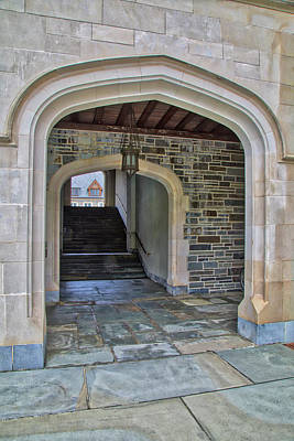 Poster featuring the photograph Princeton University Whitman College Arches by Susan Candelario