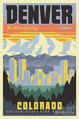 Barcelona Retro Travel Poster Poster by Jim Zahniser