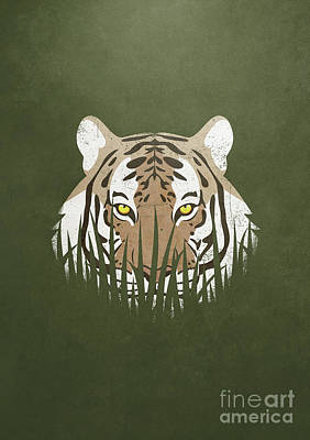 Hiding Tiger Poster by Sinisa Kale