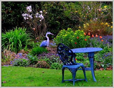 Priscillas English Garden Poster by Mindy Newman