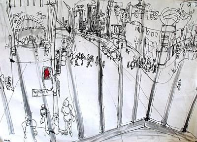 Prison Flinders St Poster by Richard Mclean