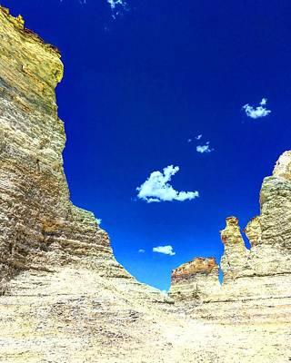 Pristine Sky Meets Historic Rocks Poster