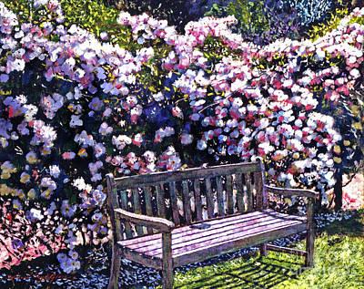 Private Garden Poster by David Lloyd Glover