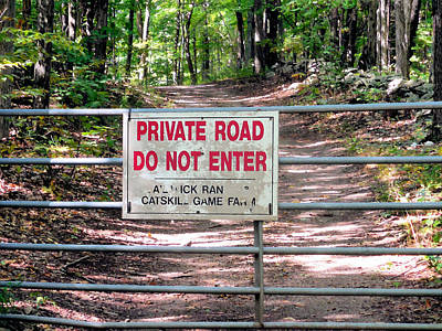 Private Road Do Not Enter Poster by Lanjee Chee
