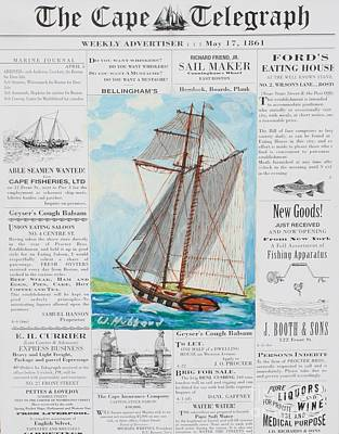 Privateer Off Charleston, Sc Poster by Bill Hubbard