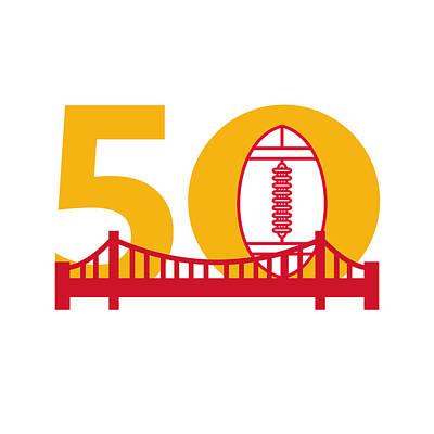 Pro Football Championship 50 Bridge Poster by Aloysius Patrimonio