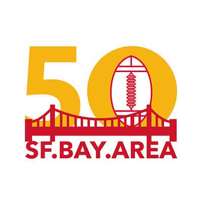 Pro Football Championship 50 Sf Bay Area Poster by Aloysius Patrimonio