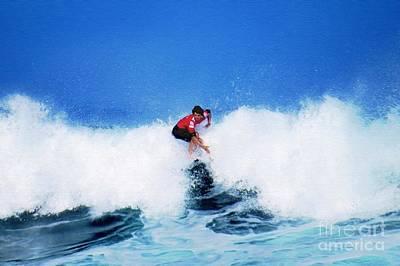 Pro Surfer Alex Ribeiro Poster by Scott Cameron