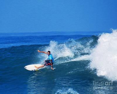 Pro Surfer Ezekiel Lau-1 Poster by Scott Cameron