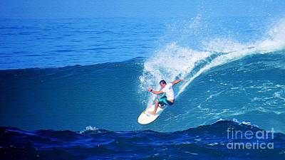 Pro Surfer Gabe King - 5 Poster by Scott Cameron