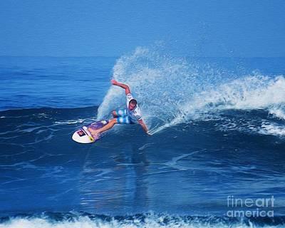 Pro Surfer Jamie O Brien #1 Poster by Scott Cameron