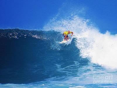 Pro Surfer Nathan Hedge-1 Poster by Scott Cameron